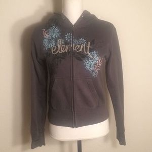 Gray Element jacket with flower design